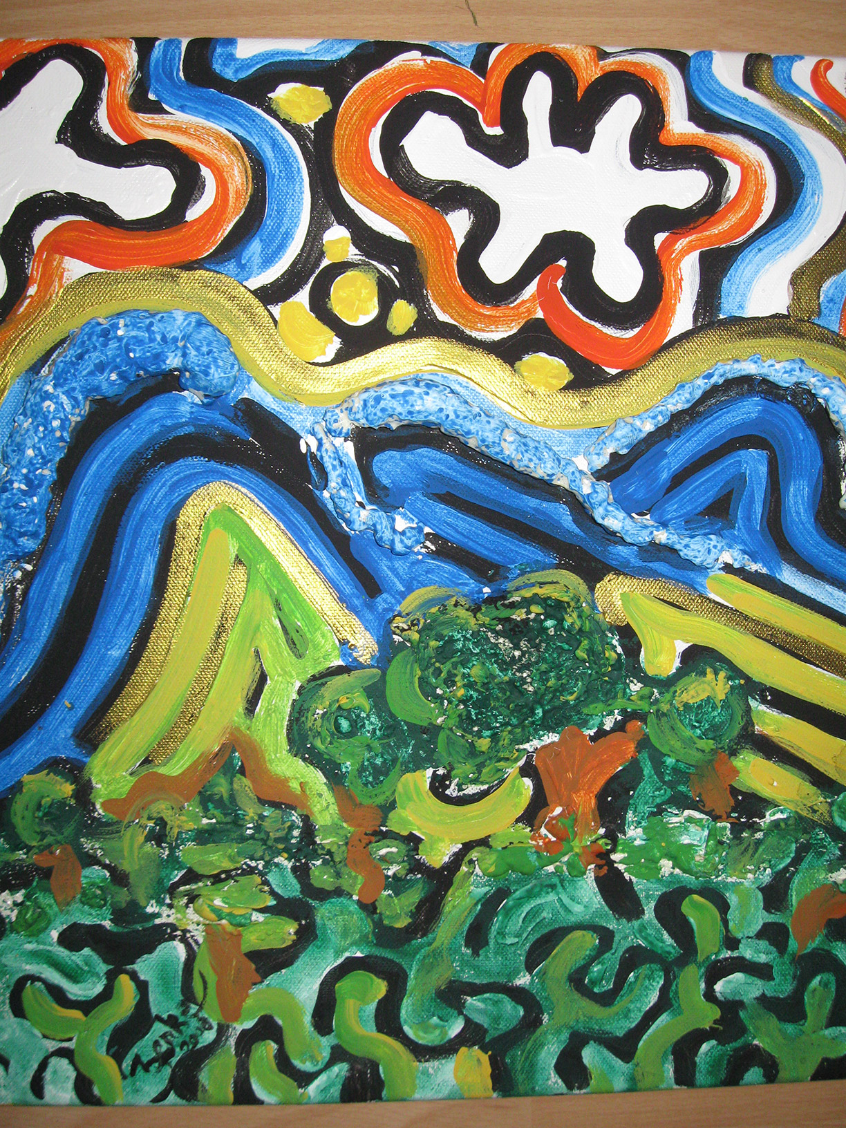 das schöpferische Gestalten und Schaffen von Werken (wie Malerei, Musik, Literatur), für das jmd. Begabung und ein bestimmtes Können braucht.