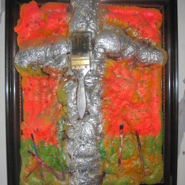 Die Kreuzigung des Pinsels